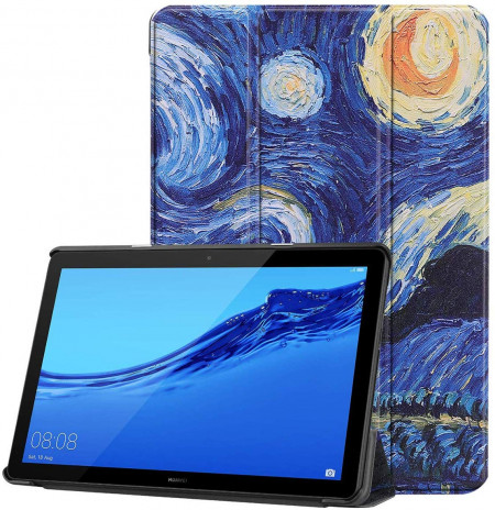 Husa Premium Book Cover SLIM Huawei MediaPad T5 10.1 inch 2018 - Starry Night
