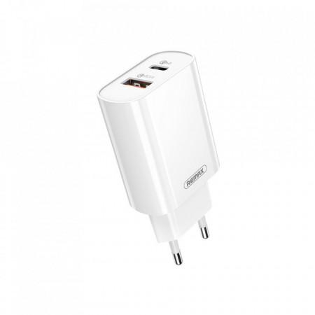 Incarcator Retea Remax Quick Charge QC 3.0 RP-U37, 1x USB 1x USB-C PD 18W
