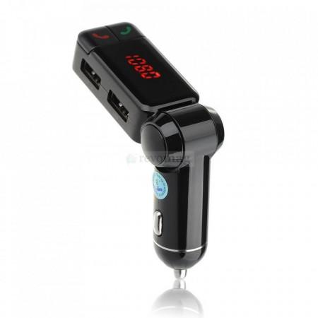 Kit Bluetooth Auto cu Modulator FM, Display LCD, Incarcator USB si Sound Stream