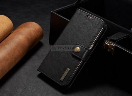 Husa Huawei Mate 9, Piele, Tip Wallet, DG.MING - Black
