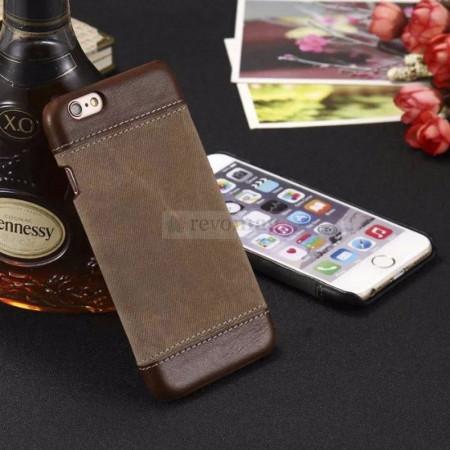 Husa iPhone i7 si i8 Plus, Jeans Canvas , Romiky
