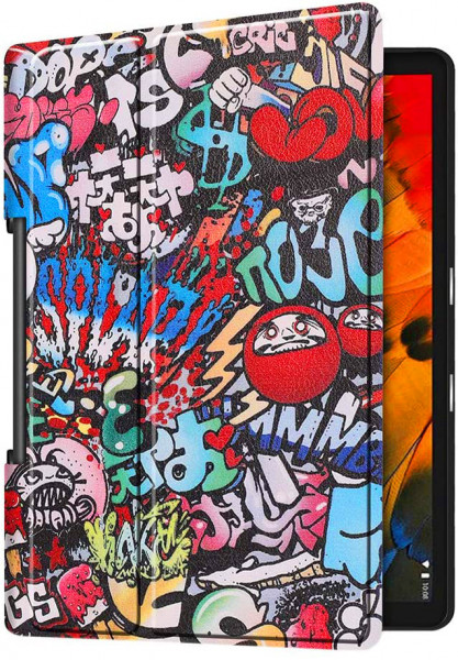 Husa Ultra Slim LENOVO Yoga Smart Tab, 10.1 inch YT-X705 - Graffiti