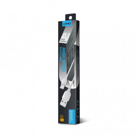 Cablu de date LDNIO LS372 USB Type-C 2.0m 2.1A High Speed