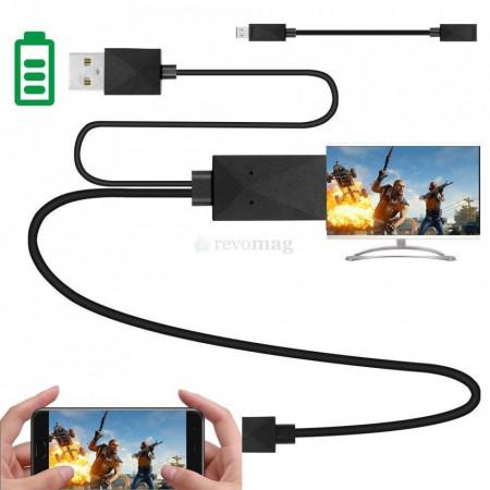Cablu MHL 5 +11 Pin pentru Tablete / Telefoane Samsung - Adaptor MicroUSB la HDMI