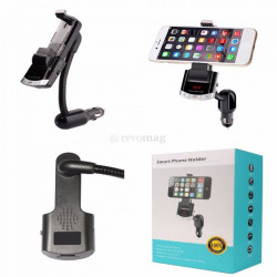 Bluetooth Car Kit cu Suport Flexibil, Modulator FM, DSP, AUX, Incarcator