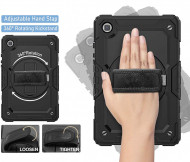 """Husa Heavy Armor Samsung Tab A7 10.4"""" 2020 T500/T505 cu Suport de Mana, Stand Rotativ"""