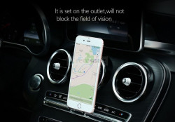 Suport Auto Telefon cu Fixare pe Grila de Ventilatie, Magnetic