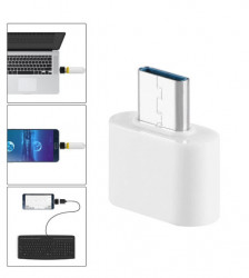 Adaptor OTG USB 3.0 la USB Type-C - High Speed - White