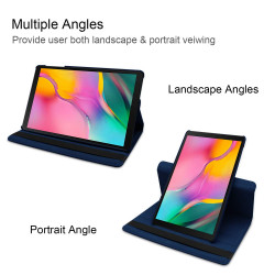 Husa cu Stand Rotativ Samsung Galaxy Tab A 10.1 (2019) - Albastru