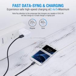 Cablu Date USB - MicroUSB Universal 2 metri - Black