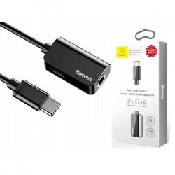 Adaptor audio auto pentru mini Jack 3.5 mm, Baseus, USB Type-c, Negru, CATL40-01
