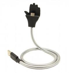 Cablu de date Micro USB cu brat Flexibil pt. telefoane