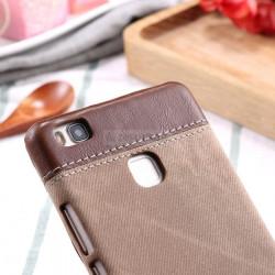 Husa Huawei P9 Lite, Retro Jean Denim Business Cover