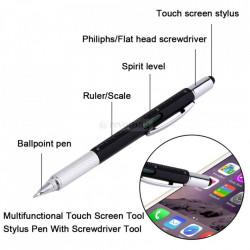 Stylus Touch Pen cu Rigla, Pix, Surubelnita si Nivela