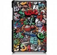 Husa Premium Book Cover Slim Samsung Tab A7 10.4 inch 2020 SM-T500 / T505 - Graffiti