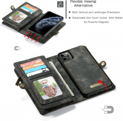 Husa Wallet Apple iPhone 11 Pro Max - Tip Portofel cu Atasare Magnetica