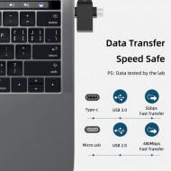 Adaptor Dual OTG USB 3.0 la USB-C / Micro USB - High Speed