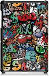 Husa Premium Book Cover Slim Samsung Tab A 10.1 inch 2019 T510 T515 - Graffiti