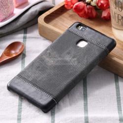 Husa SmartPhone Huawei P9, Jeans Canvas , Romiky