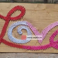 Tablou string art 3D - LOVE panou decorativ