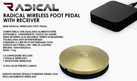 NEW Radical Wireless Foot Pedal Gold