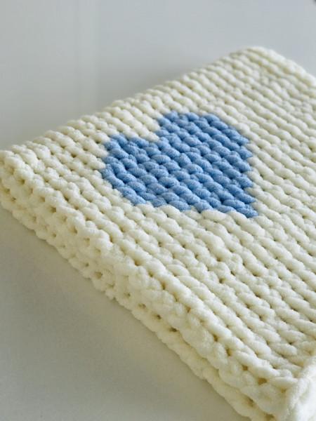 Păturica Blue Heart