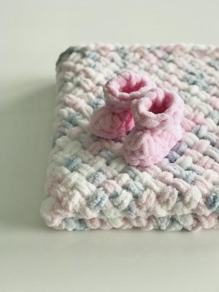Păturica Rosa + Botoșei Roz