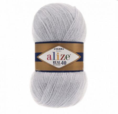Alize Angora Real 40 - Light Grey 52
