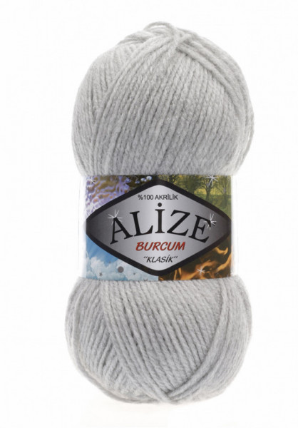 Burcum Klasik Light Grey Melange
