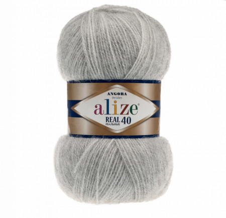 Angora Real 40 - Grey Melange 614
