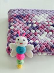 Păturica Violeta + Fluturașul Happy
