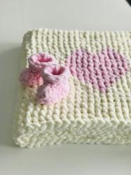 Păturica Pink Heart + Botoșei