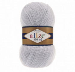 Alize Angora Real 40 - Light Grey 52