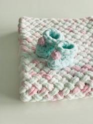 Păturica Soft Mint + Botoșei Mentă