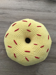 Pernă Donut Yellow