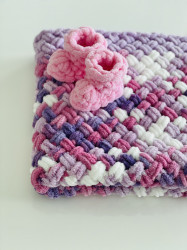 Păturica Violeta + Botoșei Roz