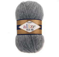 Angora Real 40 - Medium Grey Melange 182