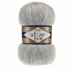 Angora Real 40 - Grey Melange 614