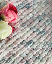Păturica Puffy Rosa