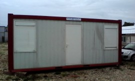 Container modular cu 2 compartimente birou si grup sanitar