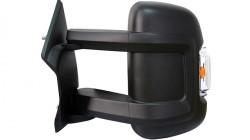 Espelho Esquerdo Manual C/ Pisca Laranja Angulo Morto Longo 2 Pinos 170mm Citroen Jumper | 06-