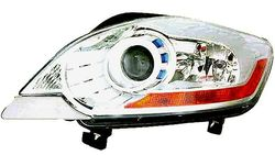 Farol Direito Eletrico C/ Motor Ford Kuga 08-13 Lente Branca