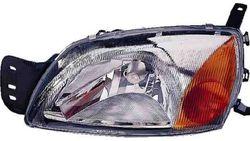 Farol Direito Eletrico Laranja C/ Motor Ford Courier 99-02