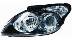Farol Direito Eletrico Hyundai I30 07-12 Mascara Preta