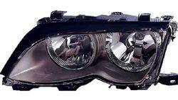 Farol Direito Bmw S-3 E46 4P/ Touring 01-05 Mascara Preta