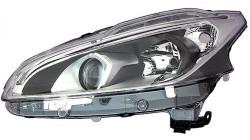 Farol Direito Fundo Negro Led Peugeot 208 15-