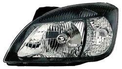 Farol Esquerdo Eletrico C/ Motor Kia Rio 05-11 Mascara Preta