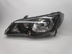 Farol Esquerdo Eletrico Fumado Honda Civic Sedan 4P 06-