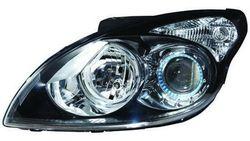 Farol Direito Eletrico Hyundai I30 07-12 Mascara Preta C/ Motor