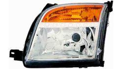 Farol Esquerdo Eletrico Laranja C/ Motor Ford Fusion 05-